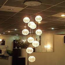 ceiling light chandelier modern large long stair round ball chandeliers lights morn chanliers glass pendant lamps
