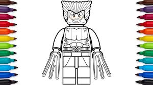 Small Picture How to draw Lego Wolverine Marvel Superheroes coloring pages