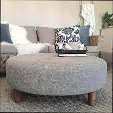 round fabric ottoman coffee table