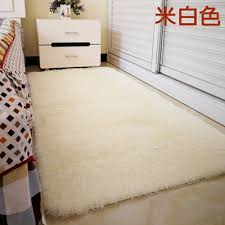 solid color long hair carpet gy soft area rug bedroom living room anti slip kids mat