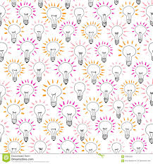 pattern idea vector cartoon light bulb idea seamless pattern illustration