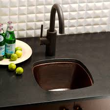 Rincon Square Copper Undermount Kitchen Bar U0026 Prep Sink Copper Undermount Bar Sink Native Trails23