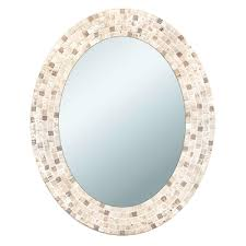 oval mirror frame. Deco Mirror 25 In. X 31 Travertine Mosaic Oval Frame A