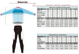Cycling Jersey Size Chart Womens Long Sleeve Cycling Jersey Size Chart Chogory
