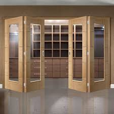 bespoke thrufold ravenna oak glazed folding 2 2 door prefinished lifestyle image