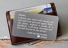 custom end wallet insert personalized wallet card mini love note metal wallet card anniversary valentine s day father s day groom s gift for