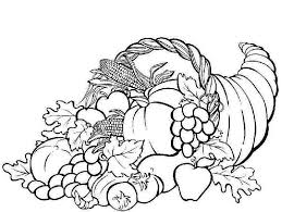 Cornucopia Coloring Pages Printable Sketch Super Coloring Page