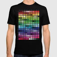 Society6 T Shirt Size Chart Color Chart T Shirt By Patternrecognitionbyannembray