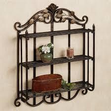ideas black marlow 3 tier metal wall shelf on white bathroom wall of in dimensions