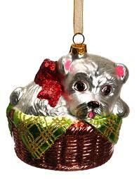 Christmas Decorations Designer Blown Glass Dog Christmas Ornaments at Designer Silk Trees and Home 61