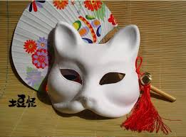 japanese for mask diy paper pulp blank mask can be painted fox mask endulge japanese
