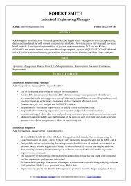 Industrial Engineer Resume Industrial Engineer Resume Samples Qwikresume