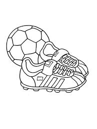 Kleurplaat Voetbalschoenen Wk Voetbal Kleurplatennl