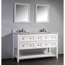 white double sink bathroom arlanda  inch white double sink bathroom vanity with mirror
