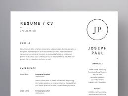 Resume Cv Interesting Joseph Paul ResumeCV Template Resume Templates Creative Market