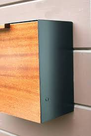 modern mailbox modern wall mounted mailbox modern mailbox large mahogany w an stain and stainless steel modern mailbox