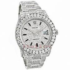 watches polyvore rolex datejust mens custom diamond watch 25 20ct iced out