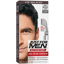 Mens Hair Dye Colour Chart Just For Men Autostop Mens Hair Color Real Black 1 Count