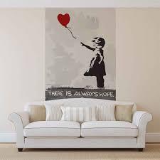 Banksy Street Art Balloon Heart Graffiti Fotobehang