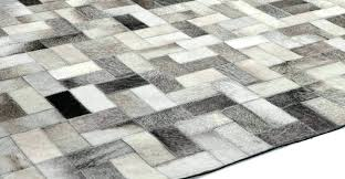 patchwork cowhide rug small gray parquet for contemporary interior flooring black and whi