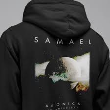 Samael Band Hoodie Samael Aeonics An Anthology Artwork Hooded Sweatshirt Industrial Metal Merch