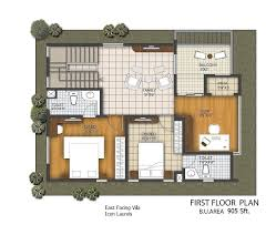 first floor plan type 1 with cut out