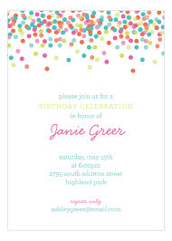 Polka Dot Invitations Falling Confetti Pastel Colors