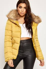 piper quilted faux fur hooded puffer jacket