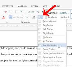 how to add a border to a paragraph in word 2016