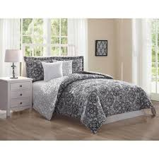 queen king bed gray black