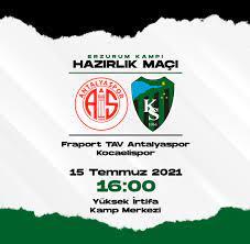 İlk hazırlık maçımız Antalyaspor ile!   Koca