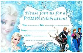 Birthday Invitation Design Templates Unique Free Frozen Birthday Invitations For Simple Invitations Of Your