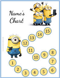 Minion Behavior Chart Free Behavior Charts With The Minions Add Your Own Photo