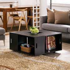 wooden wine crate coffee table