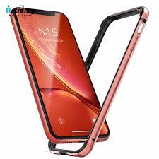Cho iPhone XR 11 Pro Max X XS 12 Mini 8 Ốp Lưng Ốp Lưng Lấp Lánh Sang Trọng  Kim Loại Nhôm Ốp Khung Điện Thoại san Hô Màu Xanh Dễ Thương