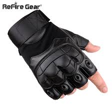 combat military tactical gloves men fingerless pu leather gloves for male solr army paintball motorcycle half finger gloves