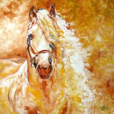 golden grace equine abstract marcia baldwin horse paintings by marcia