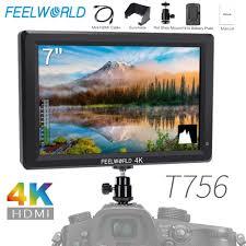 <b>Feelworld T756 7 Inch</b> IPS On Camera Field Monitor DSLR 4K HDMI ...