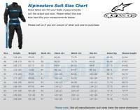 Omp Kart Suit Size Chart Kart Suit Size Chart Oakley Kart Suit Size Chart