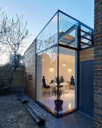 gallery office glass. cf architects have built this timber and glass office on the side of a midu2026 gallery e