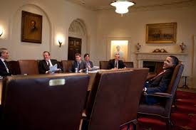 Obama And Cabinet Filebarack Obama And His Staff In The Cabinet Roomjpg