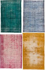 overdyed vintage rugs in over dyed decorations