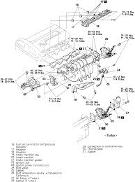 1 exploded view of the intake manifold mounting 1990 94 2 0l engines shown others similar