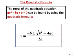 the roots of the quadratic equation