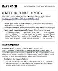 Teacher Skills For Resume Teacher Skills Resume Preschool Teacher