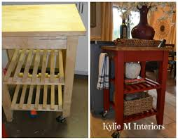 Rolling Kitchen Cart Ikea Ikea Bekvam Kitchen Island Cart Makeover With Annie Sloan Chalk