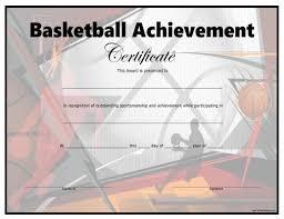 Free Printable Basketball Certificate Teaching Basketball Free