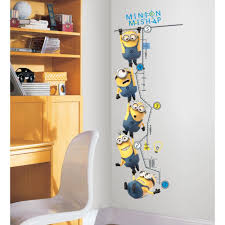 Peel And Stick Wall Decor Roommates Rmk2107gc Despicable Me 2 Growth Chart Peel And Stick
