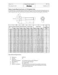 Metric Socket Head Cap Screws A2 70 Stainless Steel
