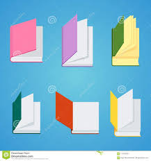 set of closed books for reading and studying at university flat vector cartoon ilration objects isolated on white background